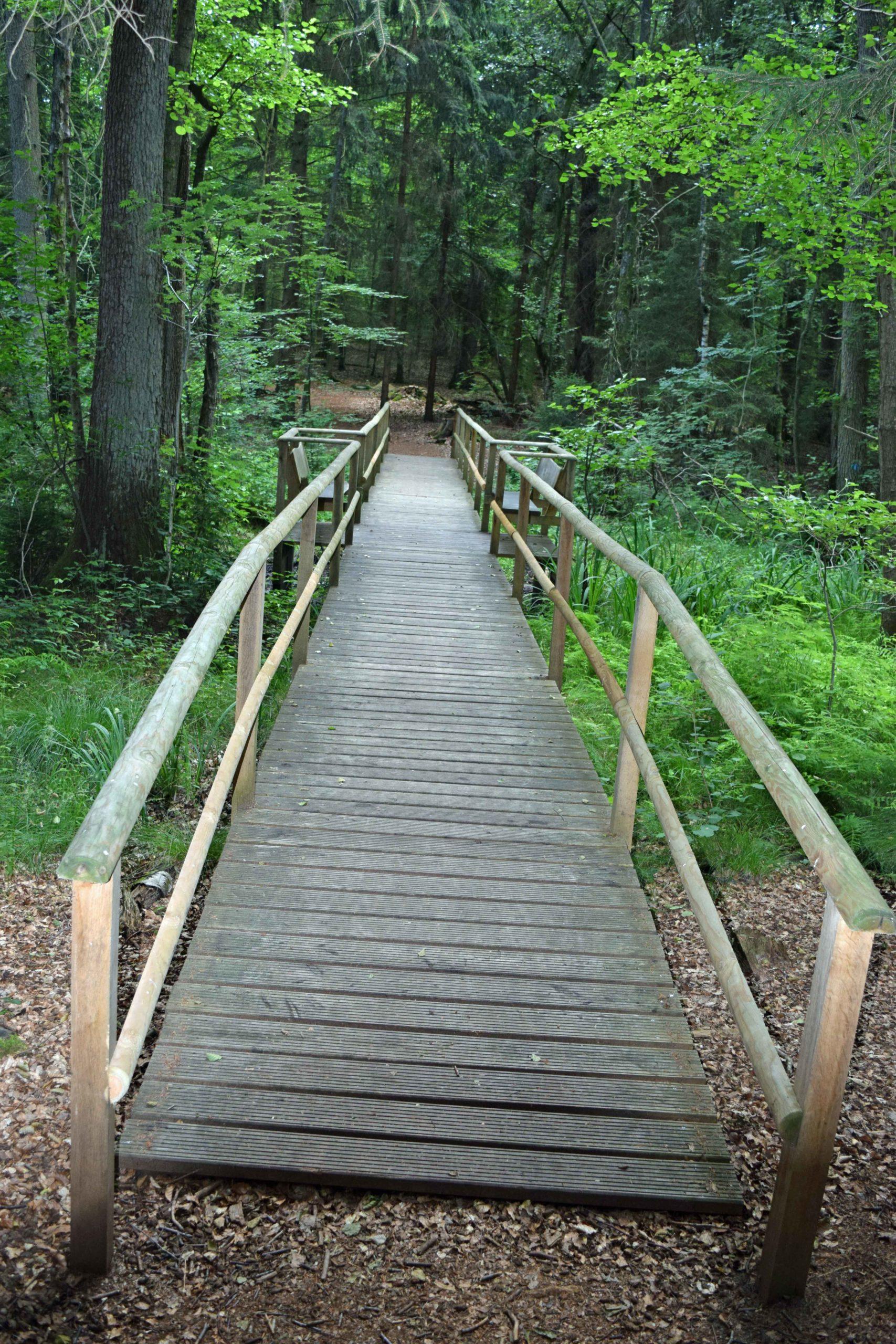 Brücke verbindet die Bestattungsfelder
